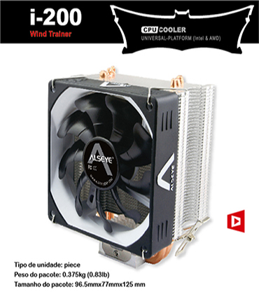 Alseye I200 CPU Air Cooler