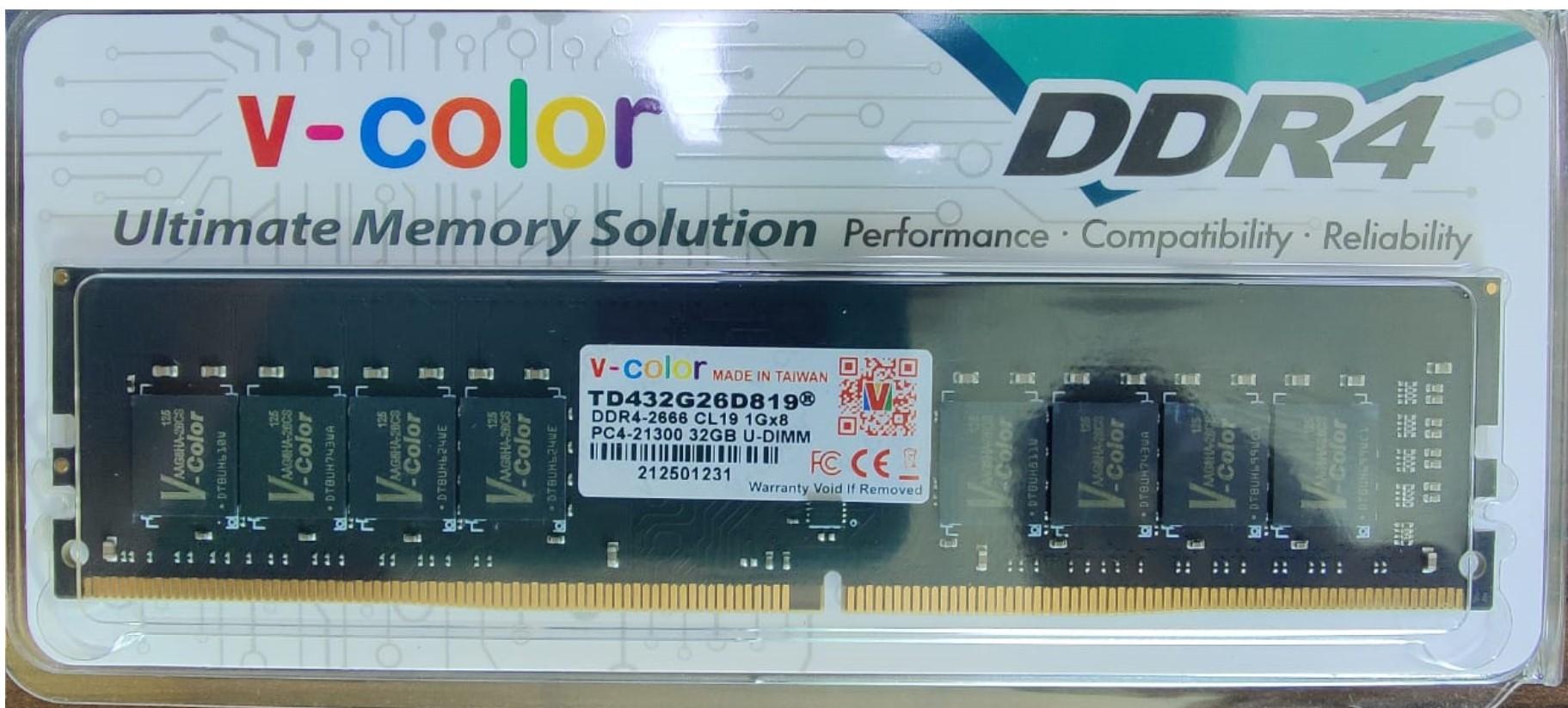 V-COLOR DDR4 32GB 2666MHz U-DIMM