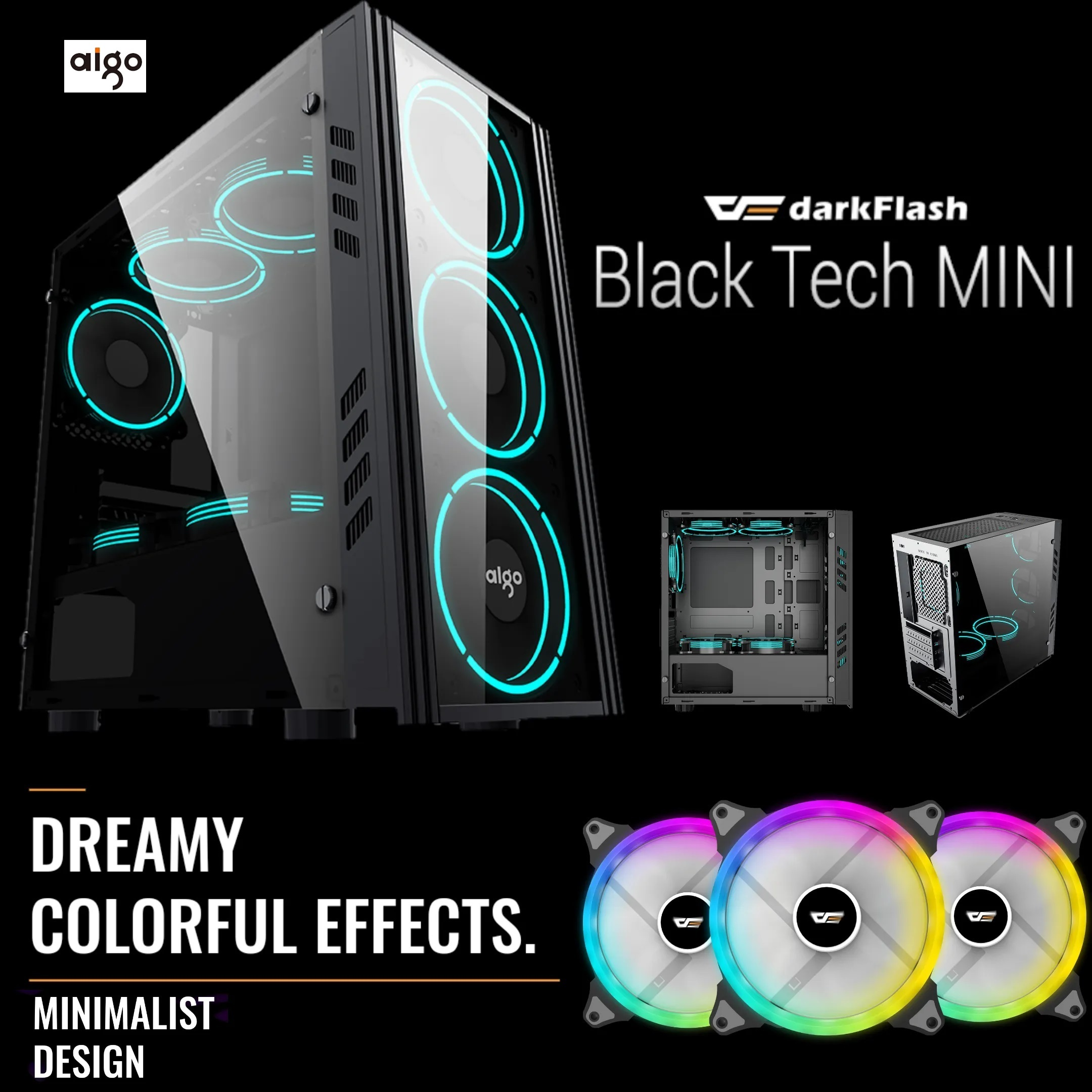 AIGO BLACK TECHNOLOGY MINI M-ATX