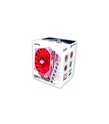 ALSEYE EDDY-120R cpu cooler 4 heatpipes TDP 220W 2 PWM LED 4pin 120mm fan