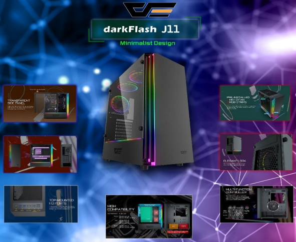 DARKFLASH J11 BLACK