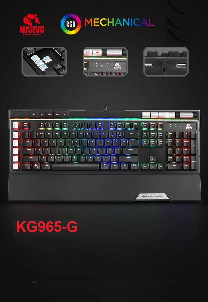 MARVO KG965G RGB GAMING KEYBOARD